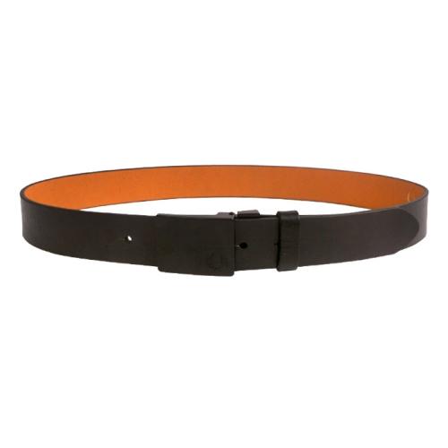 [Authentic]Plaque Buckle Leather Belt(102)