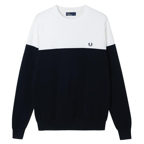 [Authentic] Panelled Crew Neck Sweater (608)