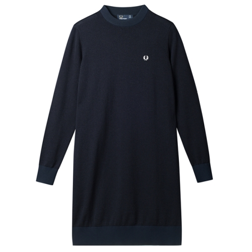 [Authentic]Knitted Crew Neck Dress(608)