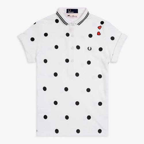 [Amy Winehouse]Amy Polka Dot Pique Shirt(100)