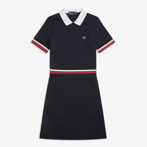 [Authentic] Bold Tipped Pique Dress(102)