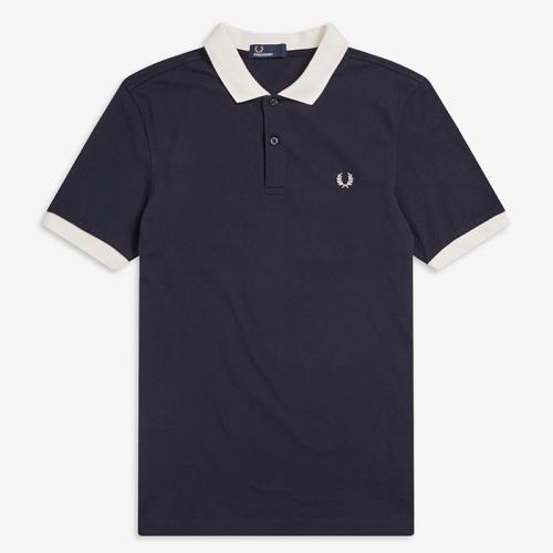 [Authentic] Colour Block Pique Shirt(608)