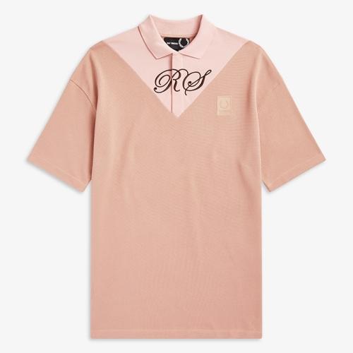 [Raf Simons] Oversized V-Insert Pique Shirt(H81)