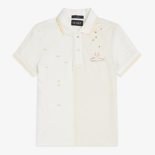 [Le Kilt] Contrast Panel Pique Shirt(129)