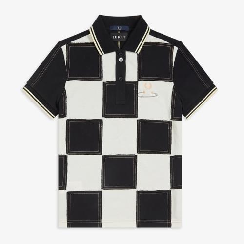 [Le Kilt] Patchwork Pique Shirt(102)