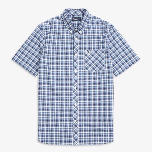 [Authentic] S/S Four Colour Gingham Shirt(608)