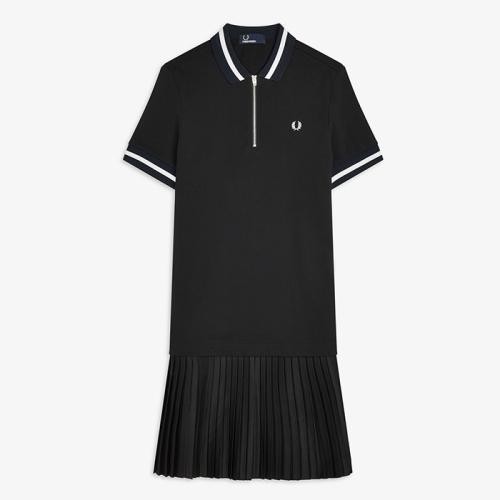 [Authentic] Pleat Detail Pique Dress(102)