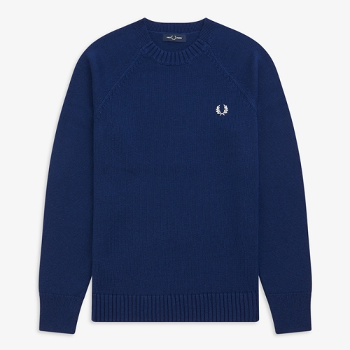 [Authentic] Contrast Texture Crew Neck Sweater(143)