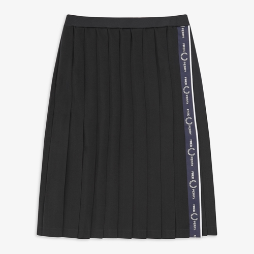 [Authentic] Taped Pleated Skirt(608)
