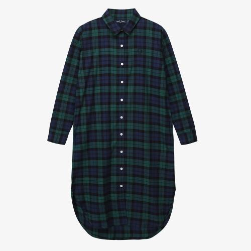 [Japan Collection] Tartan Shirt Dress(J01)