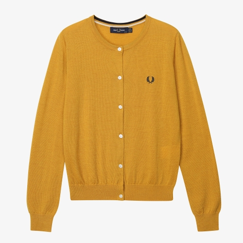 [Japan Collection] Tipped Crew Neck Cardigan(J23)
